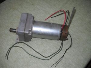 24 volt geared electric motor with brake