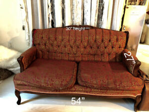 70's French Provincial Sofa & Matching Chair - Fruniture Set