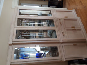 Large dinning room table and hutch