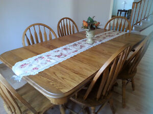 Solid Oak Dining Room Table Sets