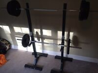 Adjustable Barbell Stand