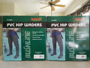 1 pair Fishing PVC Hip Waders  size10  Brand New