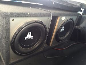 2 12 inch JL Audio subs with amp