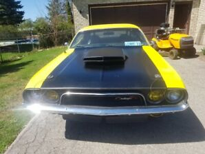 1973 DODGE CHALLENGER YELLOW JACKET R/T TRIBUTE