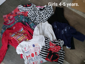 Girls 4-5 years clothes bundle. 21 items.