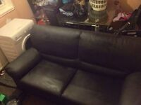 Leather 2 seater sofa used couple times