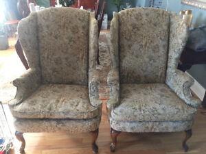 Livingroom wingback chairs