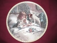 Collectible Victorian Girl with a cat & Dog