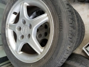 16 Inch Honda Prelude Rims with Tires 205/60/r16