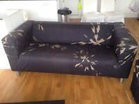 IKEA Klippan sofa in black