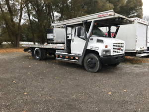 2004 GMC 6500 TOW TRUCK TOP DECK AND STINGER HYDRAULIC BRAKE