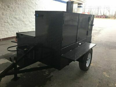 Brand New 2020 7 X 9 3-rack Cabinet Open Bbq Smoker Trailer For Sale In Alabam
