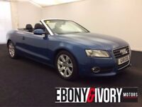 Audi A5 2.0 TDI SE 2dr [Start Stop] CONVERTIBLE + BLACK LEATHER + FULL SERVICE HISTORY (blue) 2011