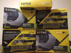 *ONLY 1 LEFT* Zotac  1070 ti AMP! OC ~BRAND NEW FACTORY SEALED~