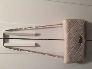 Cream quilted Michael Kors purse