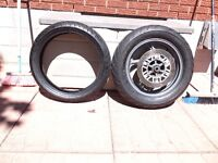 brand new kawasaki concours tires complete with rear wheel