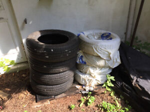 3 FOUR-TIRE SETS (USED) - 1 WINTER