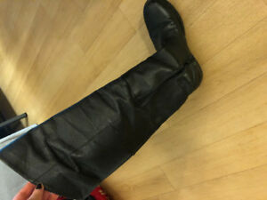 Real leather knee high boots!