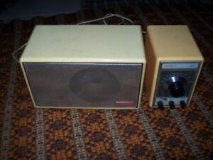 Vintage Advent Model 400 Radio/ Tuner and Speaker