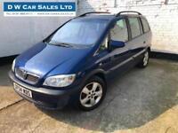 2004 04 Vauxhall/Opel Zafira 1.6i 16v Energy Manual Petrol 7 Seats Blue 5 Door