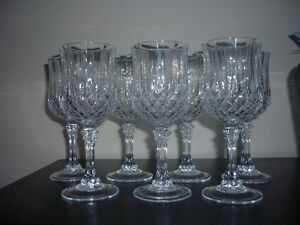 2 sets of Crystal Glasses ... different heights ... NEW Cambridge Kitchener Area image 4