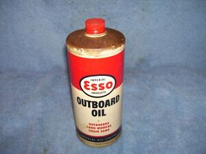 vintage Esso Outboard Motor Oil  can - coming May 13