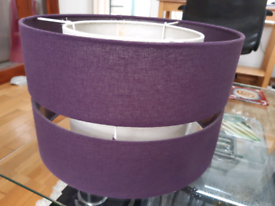 Lampshade purple&ivory