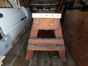 """From Estate - Saw Horse Style Bench - had a 24"""" scroll saw on it"""