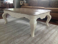 Gorgeous Distressed Wooden Coffee Table