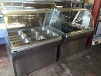 Hot and cold display unit serve over counter