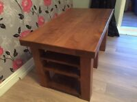 Solid oak tv stand or coffee table £100