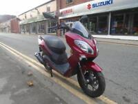 Keeway Cityblade 125cc 2 years warranty and low rate finance.