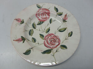 PIER 1 HAND PAINTED EARTHENWARE - TOSCANA ROSES DECORATIVE PLATE Windsor Region Ontario image 1