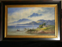 Important watercolor painting by (Listed) Edwin St John