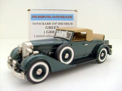 MINIMARQUE 1/43 GRB 24 1934 PACKARD 1107 DIETRICH GREEN for sale  Shipping to Ireland