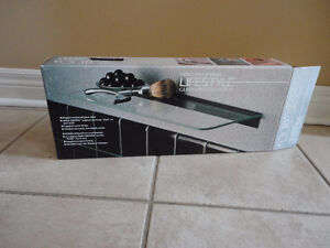 Glass shelving kit with brackets Brand new in box