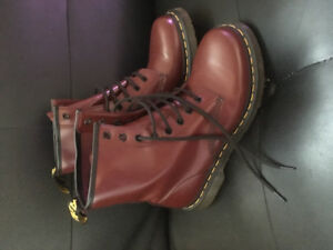Cranberry Red Doc Martens - Women's 9