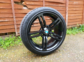 18 inch Black Bmw M6 Type Alloy Wheels & Tyres e46 e60 1 series e82