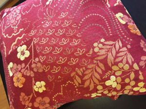 FABRIC UPHOLSTERY WEIGHT RED & GOLD $10 OBO