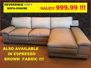 Grey Fabric Sectional ON SALE, $999.99 @ Yvonne's Furniture