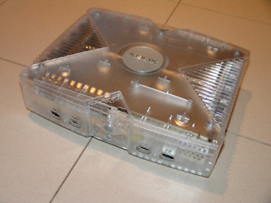 Limited edition crystal xbox  (modded)