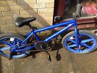Personalised BMX stunt bike- light frame