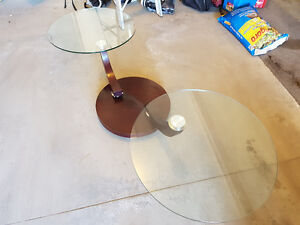 Italian Glass, Wood and Steel Coffee Table Kitchener / Waterloo Kitchener Area image 5