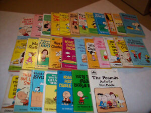VINTAGE  CHARLIE  BROWN  BOOKS