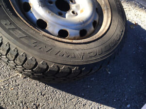 Goodyear winter tires with rims 215/60/16