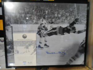 "NHL Bobby Orr Autograph Picture ""The Goal"" Boston Bruins"