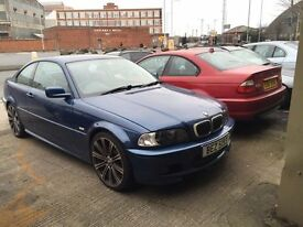 Breaking Bmw e46 320i m sport coupe blue m3 wheel sport bumper leather interior black