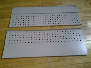 2 METAL BOARD SHELVES 96X35CM 2 FOR 3$