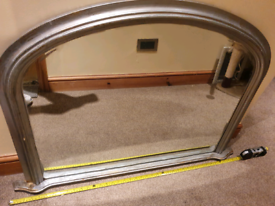 Vintage large mantel mirror silver