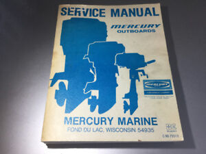 1975-78 Mercury Outboard Shop Manual 1-6 cyl Inline V6 4-200 hp